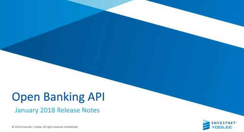 Open Banking API: January 2018 Release Notes