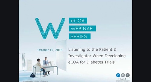 Listening to the Patient & Investigator When Developing eCOA for Diabetes Trials