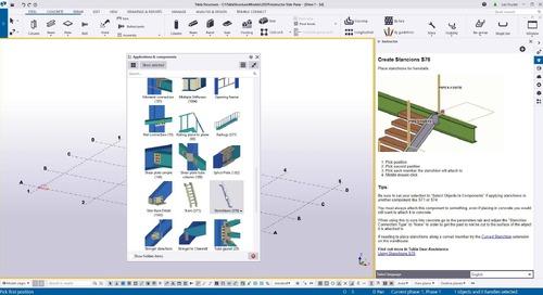 Instructor Side Pane in Tekla Structures 2021