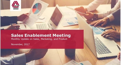 November 2017 - Monthly Sales Enablement Webinar (Internal)