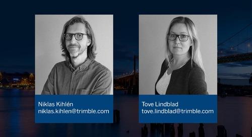 IFC-modell från Tekla Structures via Trimble Connect till Trimble Access