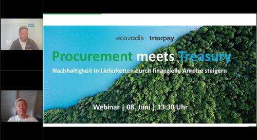 Procurement meets Treasury – Nachhaltigkeit in Lieferketten durch finanzielle Anreize steigern