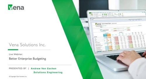 Sept 28th Budgeting webinar by Andrew von Eschen