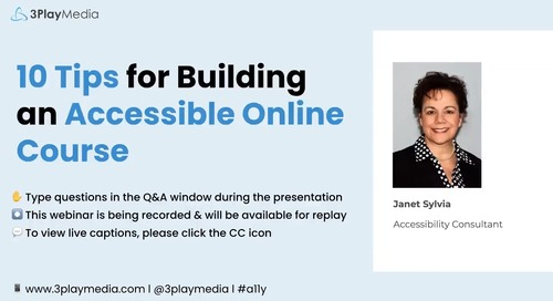 10 Tips for Building an Accessible Online Course