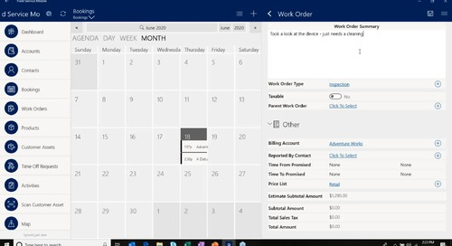 Manage Your Employees En Route or at the Client Site with Dynamics 365 Field Service