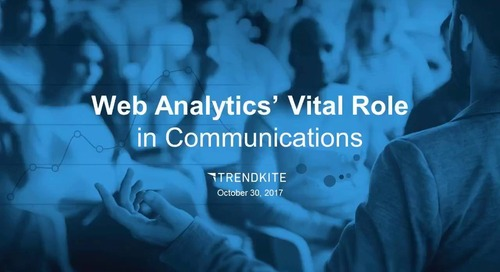 Web Analytics' Vital Role in PR