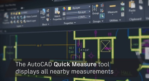 AutoCAD 2020: Quick Measure