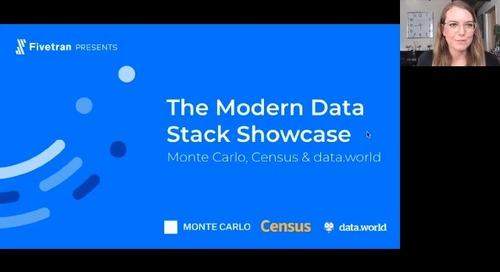 The Modern Data Stack Showcase: Monte Carlo, Census & data.world