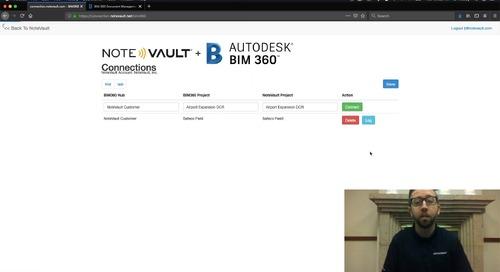 NoteVault + BIM 360 Integration