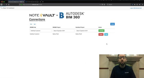 NoteVault + BIM 360 Integration