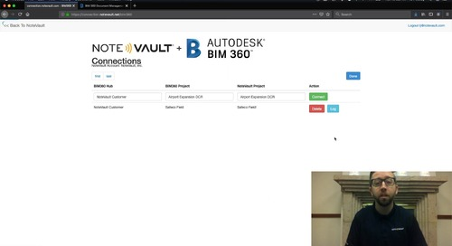 [Video] NoteVault + BIM 360 Integration