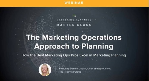 Webinar: How Marketing Operations Leads the Annual Planning Process
