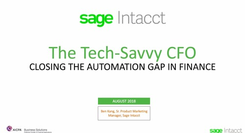 The Tech-Savvy CFO - Closing the Automation Gap in Finance