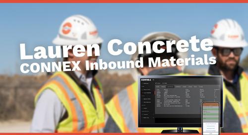 CONNEX Inbound Materials Creates Efficiencies | Lauren Concrete