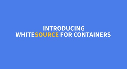 WhiteSource for Containers