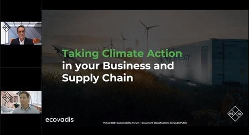 Prendre des mesures climatiques dans votre entreprise et votre chaîne d'approvisionnement