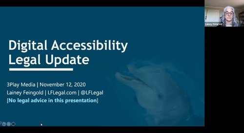 2020 Legal Update on Digital Accessibility Cases with Lainey Feingold