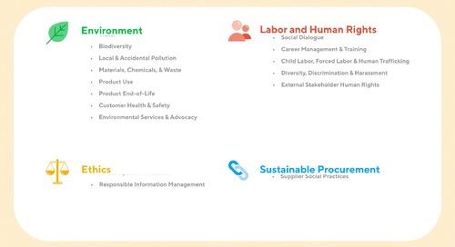 Panoramica delle soluzioni di valutazione EcoVadis