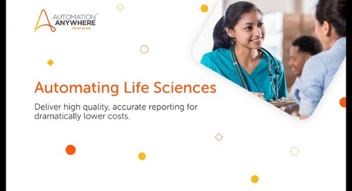 Enterprise 11.x Use Cases - Life Sciences Regulatory Reporting Process Automation Use Case