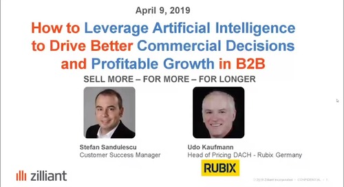 How to leverage AI to drive better commercial decisions and profitable growth in B2B