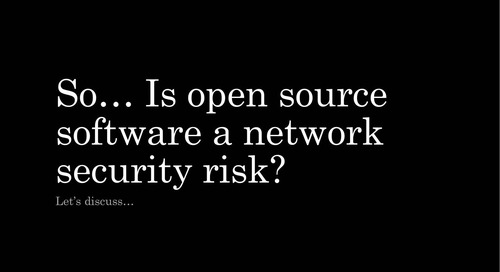 Is open source networking secure?