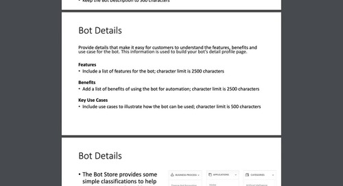 How to Submit a Bot or Digital Worker to Automation Anywhere Bot Store