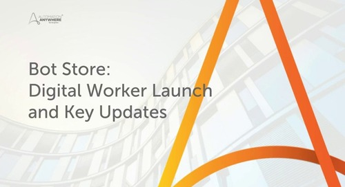 Bot Store: Digital Worker Launch and Key Updates