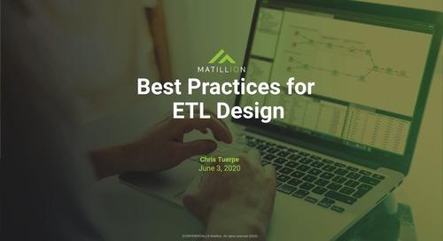 Tech Talk - Best Practices for ETL Design
