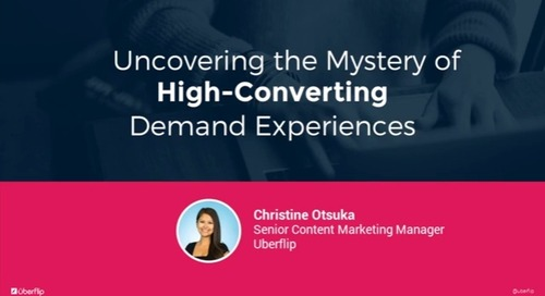 Uncovering the Mystery of High-Converting Demand Experiences