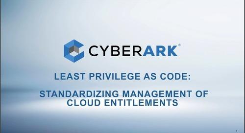 Least Privilege as Code: Standardizing Management of Cloud Entitlements