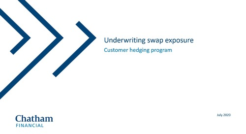 Underwriting swap exposures