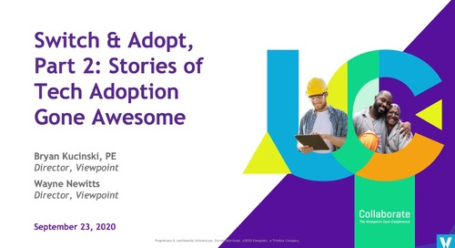 Switch & Adopt, Part 2: Stories of Tech Adoption Gone Awesome - Industry Professional
