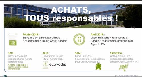 Achats responsables et Labellisation RFAR