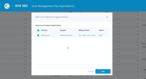 Cost Management now includes pay applications!