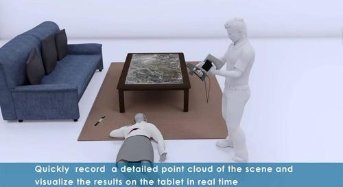 FARO Freestyle 3D Handheld Laser Scanner for forensic investigation