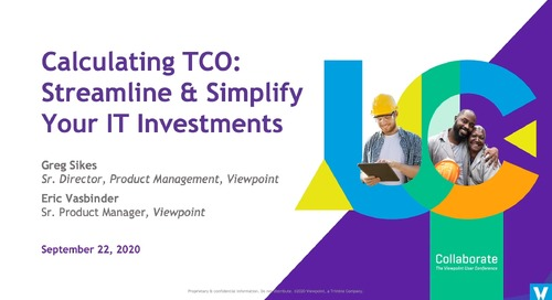 Calculating TCO: Streamlining & Simplify Your IT Investments - Industry Professional