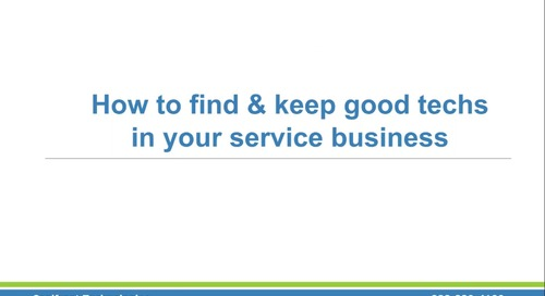 How to Find and Keep Good Technicians
