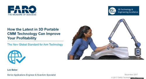 How the latest in 3D portable CMMs can improve your profitability