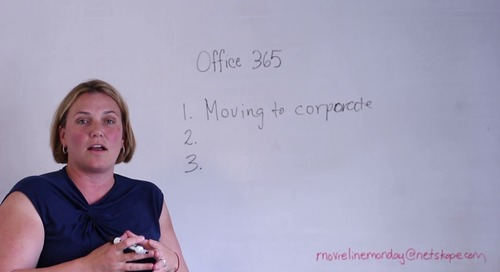 Movie Line Monday — Standardizing on Office 365