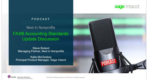 Next in Nonprofits Podcast – FASB Accounting Standards Update Discussion