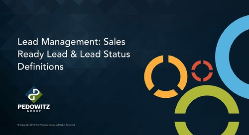 Lead Management Part 2 - Definitions / Statuses Defined