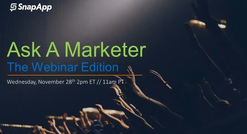 Ask A Marketer - The Webinar Edition