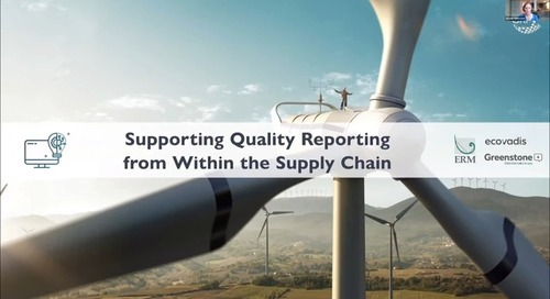 [GRI Webinar] Supporting Quality Reporting within the Supply Chain