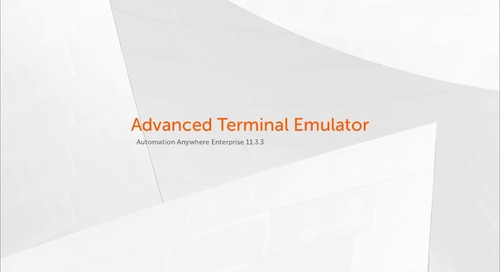 Enterprise 11.x Features - Advanced Terminal Emulator