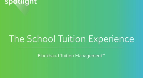 The School Tuition Experience