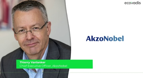Thierry Vanlanker, Chief Executive Officer, AkzoNobel Talks About Why Sustainability