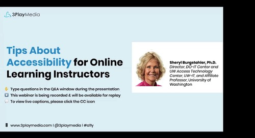 Tips About Accessibility for Online Learning Instructors