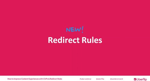 Customized URL Paths and Redirect Rules