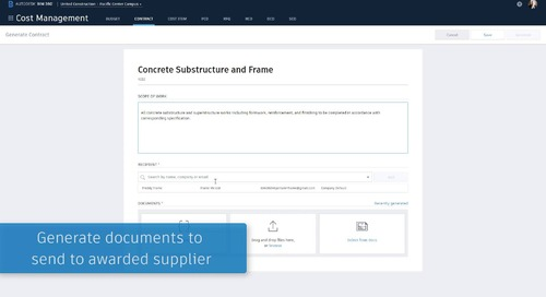 OTC BIM 360 Cost Management - Contracts & Contract Generator_Slide 27