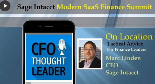 Making Hiring a CFO Priority | A Talk with Marc Linden, CFO, Sage Intacct